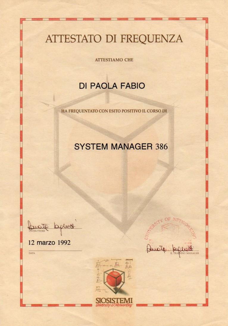 Novell netware System Manager 386