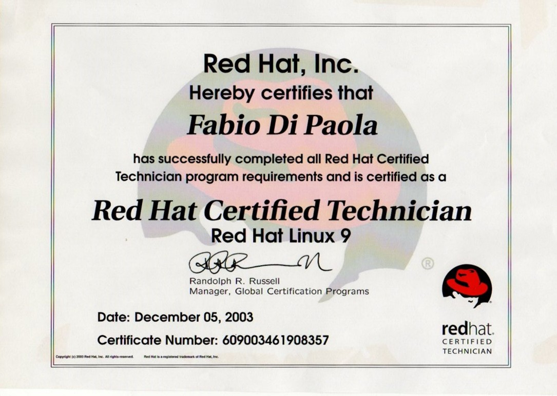 Redhat Certified Techinician