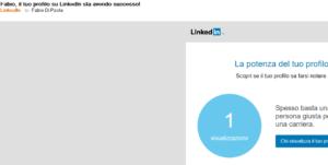 la potenza del mio profilo su Linkedin